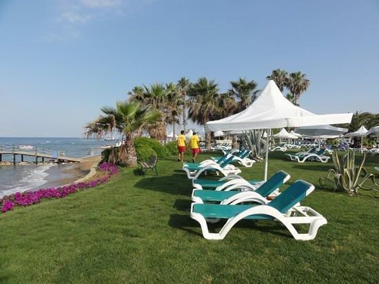 Turquoise Resort Hotel & Spa: только в этом отеле на пляже есть и песок и трава на выбор