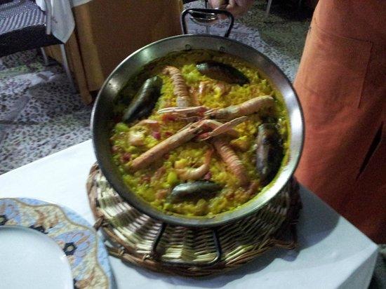 Restaurante Dona Elvira Seville : paella de marisco