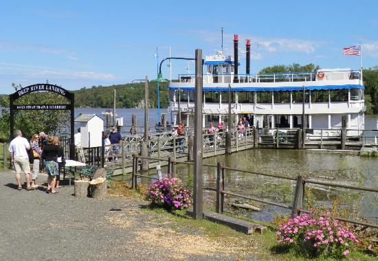 Essex Steam Train and Riverboat: Deep River Landing where we get on the Riverboat.