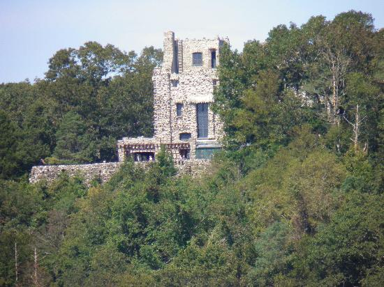 Essex Steam Train and Riverboat: View of Gillette Castle from the Riverboat.