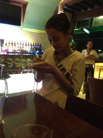 Thirty Resto Bar (Club Thirty): Melissa one of the friendly staff