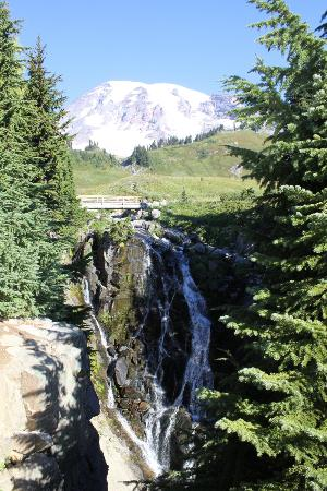 Paradise Inn at Mount Rainier: Myrtle Falls & Mt Rainier