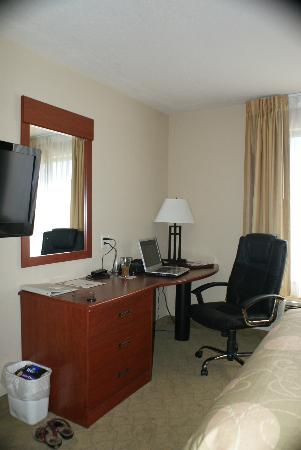 Sleep Inn & Suites: The desk practically begged to be used!
