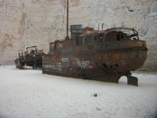 Louis Zante Beach: The shipwreck on Shipwreck Beach