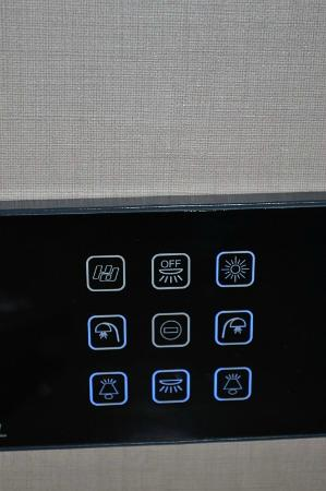 Comfort Hotel Roma Airport Fiumicino : The very modern electricity panel