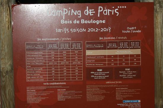 Camping Indigo Paris Bois de Boulogne: ingresso