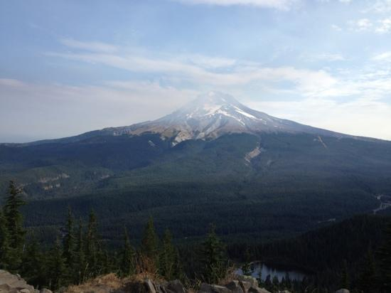 Mirror Lake Trail: Mt Hood from summit of Tom Dick & Harry Mt