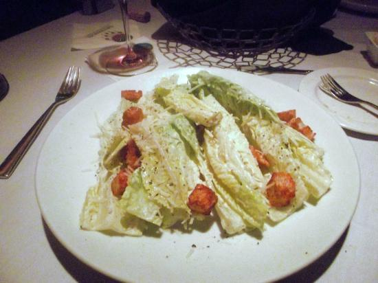 Pines Steakhouse : Caesar Salad (split)