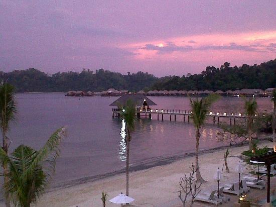 Gaya Island Resort: Views from library & Fisherman's Cove