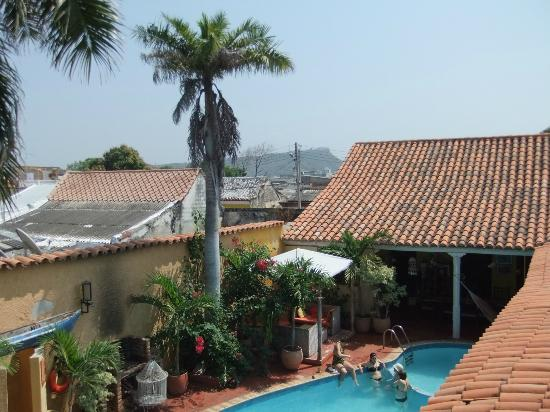 Casa Relax Bed & Breakfast: View of Cartagena from upper level.