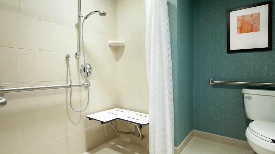Hyatt Place Riverside Downtown : Accesible Roll-Shower. *select rooms