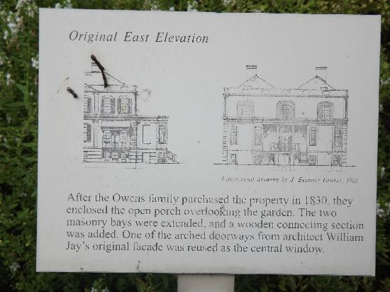 Owens-Thomas House: original house set-up