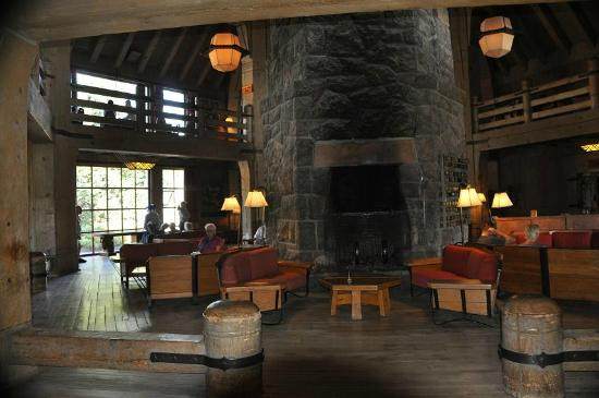 Mt. Hood Ski Bowl: Partial view of the interior of Timberline Lodge