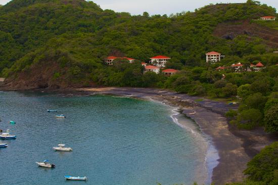Roca Bruja: View of Ocotal bay from the restaurant