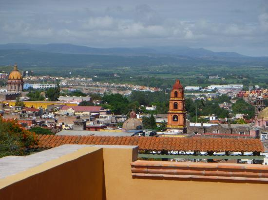 Casa de la Cuesta: Looking out over the city from a balcony