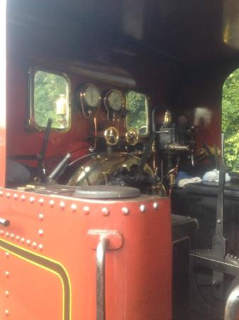 Inside Steam Engine - Picture of Isle of Man Bus and Rail