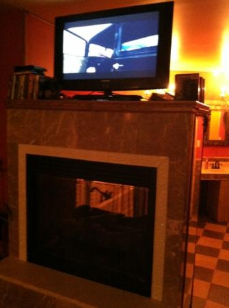 Thyme for Bed: double sided fireplace