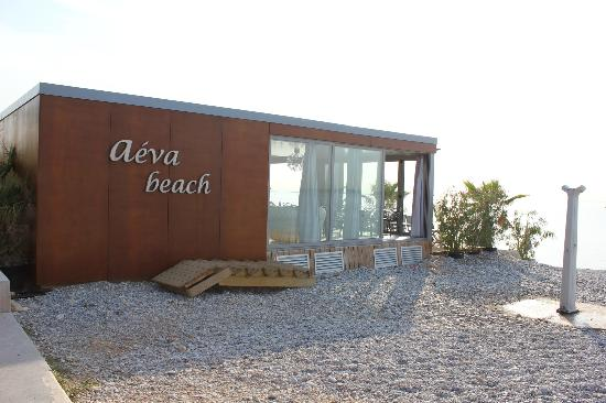 Aeva Hotel: Private beach/restaurant