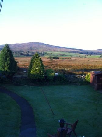 Llwyn Onn Guest House: view from bedroom window