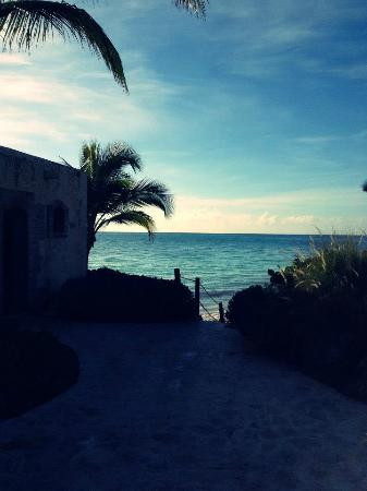 Sanctuary Cap Cana by Playa Hotels & Resorts: Pathway through the resort with stairs to the ocean