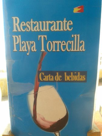 Restaurante Playa Torrecilla: Comprehensive drinks menu