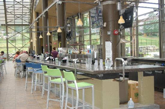 Jay Peak Resort: The bar where you can have drinks while watching the kids in waterpark