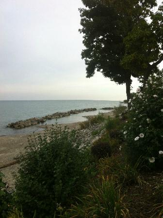 The Lakehouse Inn: View of Lake Erie from patio