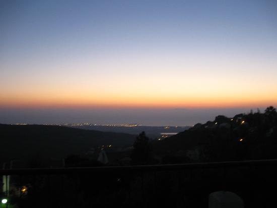 Nir Etzion Hotel: Sunset over the Med