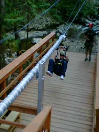 Treetop Flyers Zipline at Chase Canyon: Second zip