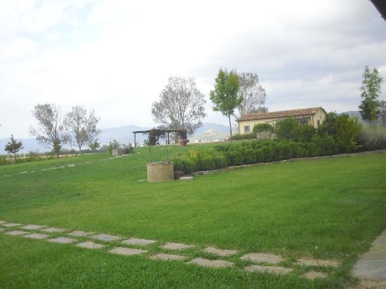 Cortona Resort - Le Terre dei Cavalieri: Vista del giardino e piscina