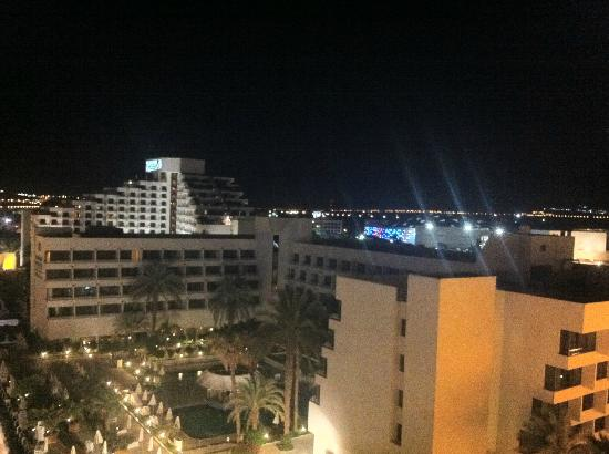 Hilton Eilat Queen of Sheba: our view at night from our room