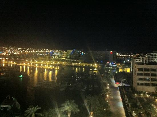 Queen of Sheba Eilat: our view at night from our room