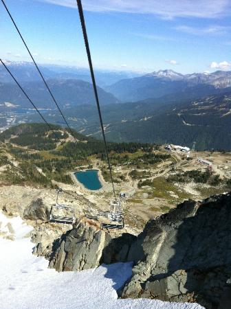 Whistler Blackcomb: Ski lift to the summit