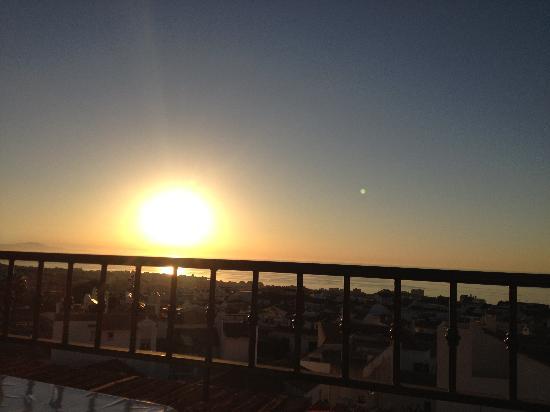 Hotel Casa Rosa : Sunset balcony view