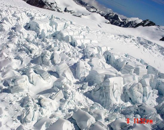 Glacier Helicopters: Top crevasses