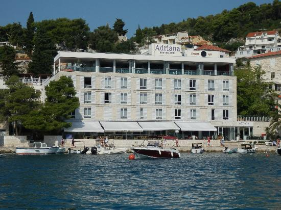 Adriana, hvar spa hotel: Adriana from the water