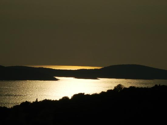 Adriana, hvar spa hotel: Sunset over Pakleni islands - view from the castle
