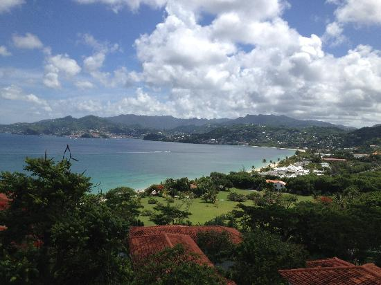 Mount Cinnamon Resort & Beach Club: Beautiful view of Grand Anse from my balcony at Mt. Cinnamon