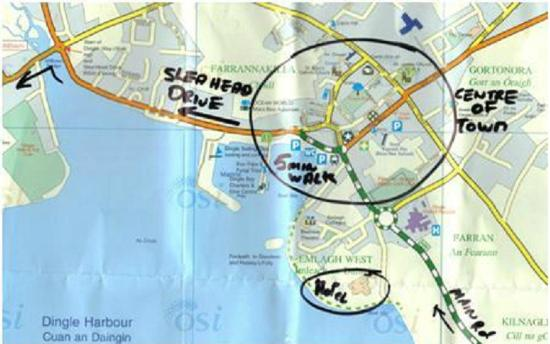 Dingle Map Of Ireland.Location Of Hotel And Town Map Picture Of Dingle Skellig Hotel