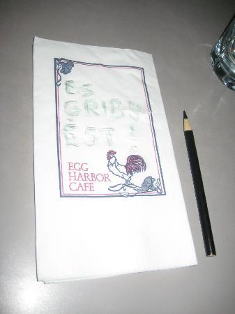 Egg Harbor Cafe: I want eat :D