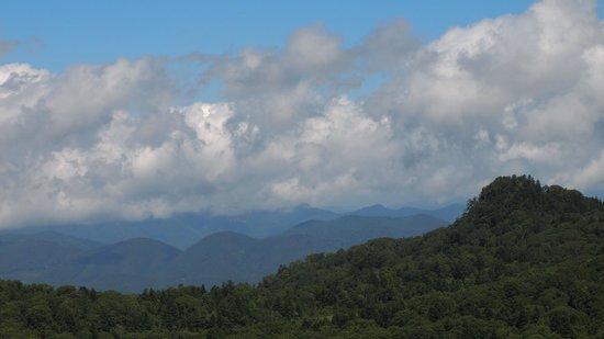 Hachimantai, Nhật Bản: 岩手山を裏から望む