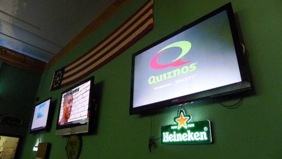 Sports on the TV at Beer Zone