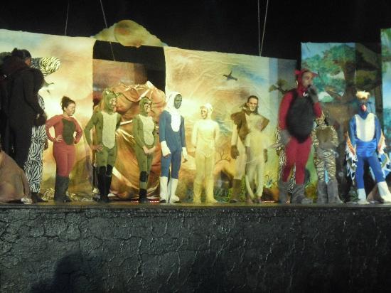 Hotel Cedriana: l'equipe spectacle le roi lion