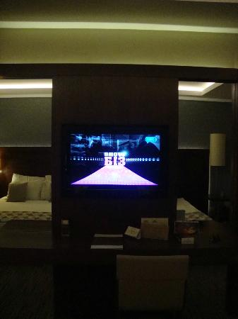 Belconti Resort Hotel: Normal TV in Luxury room