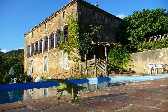 Mas Garganta: Hotel from pool