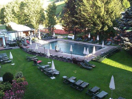 Hotel Die Post: Unser Zimmerblick auf den Garten