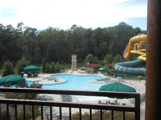 Great Wolf Lodge: view from room 3105