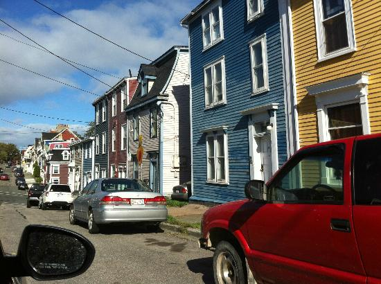 Comfort Inn Airport: St.John's downtown row houses.