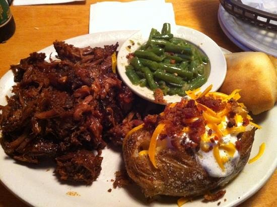 Texas Roadhouse : Pulled pork dinner