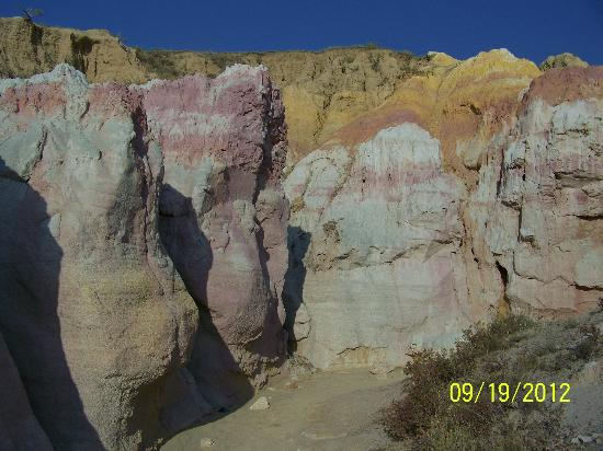 The Paint Mines Interpretive Park: These colors are but a small sample of what you will see, I don't want to ruin it for ya ;)